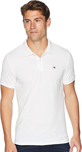 Scotch & Soda Men's NOS - Classic Polo in Pique Quality w/Clean Outlook White Large