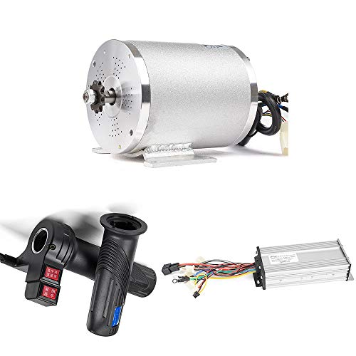 Set Conversion 86 (MY1020 2500W 60V Electric Brushless DC Motor Kit, 41A 18 Mosfet Brushless Motor Controller,Twist Grip Throttle, Electric Scooter E-Bike Conversion Kit DIY (60V 2500W BLDC Motor Kit with Foot))