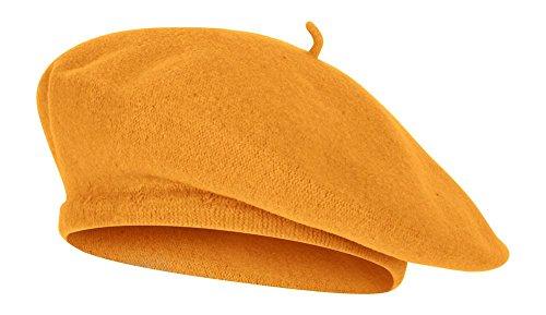Gold Wool Classic Hat - TOP HEADWEAR TopHeadwear Wool Blend French Bohemian Beret, Gold