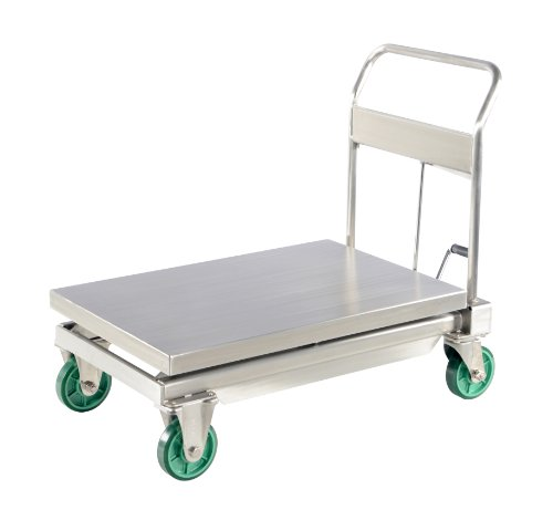 Vestil-CART-1100-SS-Hydraulic-Scissor-Lift-Cart-Stainless-Steel-1100-lb-Capacity-35-12-Length-x-23-12-Width-Platform-13-to-38-12-Service-Range
