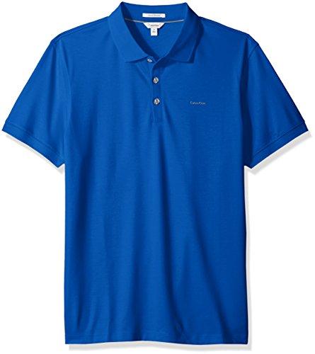 (Calvin Klein Men's Liquid Touch Polo,nautical blue,Medium)