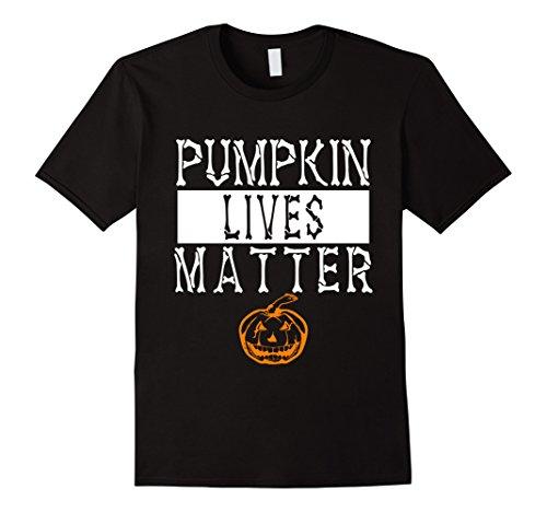 Mens Funny Pumpkin Lives Matter Halloween 2017 Costume T-shirts Medium Black (Le Halloween 2017)