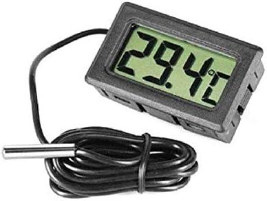 LCD Thermomètres Aquarium, Thermomètre Digital, Moniteur Numérique De Température avec Sonde pour Les Congélateurs Réfrigérateurs et l'eau Fishtank
