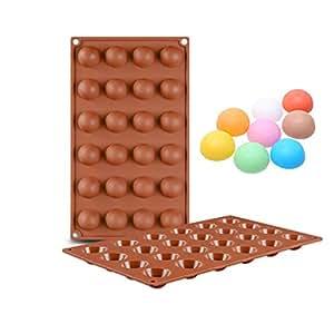 KBstore Moldes de Bombones de Silicona - Forma de Semi Esfera Hemisferio Molde de Silicone para Chocolate/Caramelo de Café/Cubo de Hielo/Gelatina #1: ...