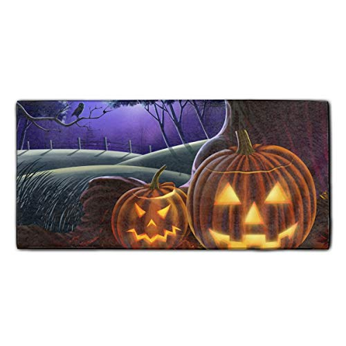 Scary Halloween Luxury Bathroom Hand Towels, Hotel & Spa Quality Hand Towels 11.8 X 27.5 Inches ()