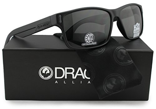 Dragon Alliance Dr Count H2O Polarized Floatable Sunglasses Matte Black w/Crystal Grey (041) 58mm Authentic by Dragon Alliance