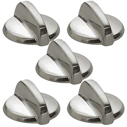 Wb03T10325 Cooktop Knobs Replacements for Ge Stove Range Burner Chrome Control Knob Ap5690210 Ps3510510(5 packs)