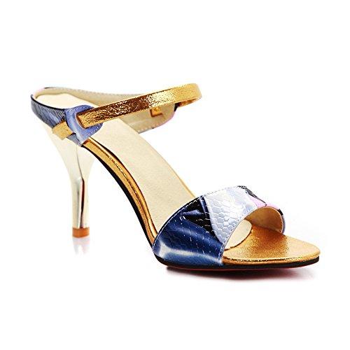 AdeeSu Zapatos con tacón mujer Azul Gran venta Outlet 2017 Sale ... 8f949970097