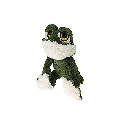 Multipet Etch a Pet Plush Filled Frog Dog Toy, 9