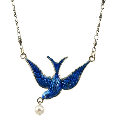 Anne Koplik Bluebird Necklace with Bead