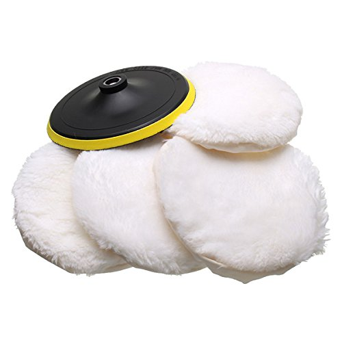 7 Inch Wool Buffing Bonnet Pad Car Polishing Buffer Hook and Loop Strap