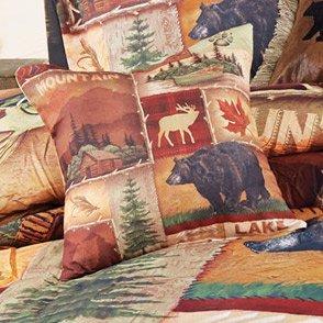 Black Forest Décor Decorative Rustic Farmhouse Western Pattern Pillow (Highland Hills)
