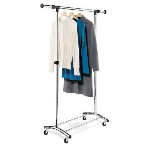 Generic NV_1008003709_YC-US2 angere R Rolling Garment Garme Portable ck Sh Rack Shelf lothe Organize ger Clothes Hanger Portabl by Generic