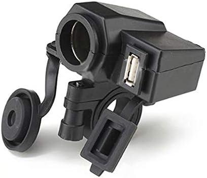 1pcオートバイは電話のための12VタバコのライターUSB力のソケットの充電器を防水します
