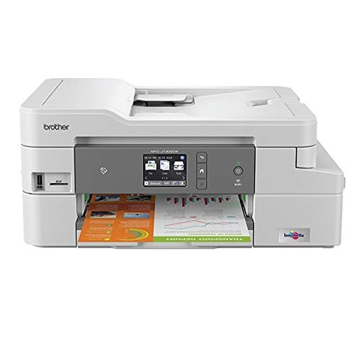 Brother MFC-J1300DW - Multifunció n de Tinta Color All in Box (128 MB, WiFi, fax y Cartuchos de Alta Capacidad, LCD, USB 2.0 Hi-Speed, hasta 1.200 x 1.200 PPP, Bandeja de Entrada de 150 Hojas) MFCJ1300DW