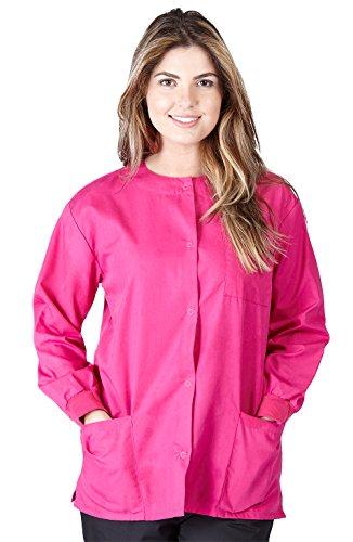 Natural Uniforms Women's Warm Up Jacket (Hot Pink) (Medium) (Plus Sizes Available) ()