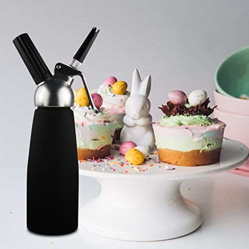 Sivaphe Cream Whipper Gourmet Whip Culinary Aluminum Threads Whipped Cream Dispenser Maker with 3 Decorating Nozzles Leak-proof - Use 8 Gram N2O Cream Chargers (Not Included) by Sivaphe (Image #6)