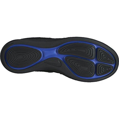 Nike Kvinnor Lunarepic Låg Flyknit 2 Löparsko Svart / Svart-mörkgrå-racer Blå 10,5