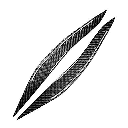 Carbon Eyelids (Younar Carbon Fiber Headlight Eyebrow Eyelids for BMW F10 5 Series 2010-2016)