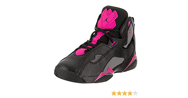 new concept 60e64 5b915 Amazon.com   Nike Jordan Kids Jordan True Flight GG Black Dark Grey Deadly Pink  Basketball Shoe 7 Kids US   Basketball