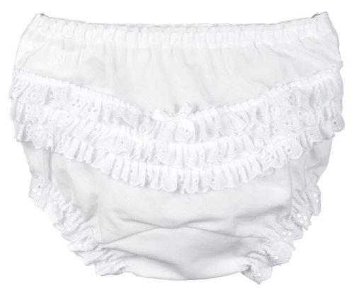 I.C. Collections Little Girls White Batiste Rumba Panties, Size 04 Girls Cotton Batiste