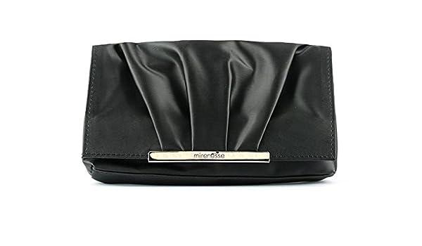 67239e5eee4 Amazon.com : Mirenesse Cosmetics Vanity Clutch All Black Satin Makeup Bag -  Vegan : Beauty