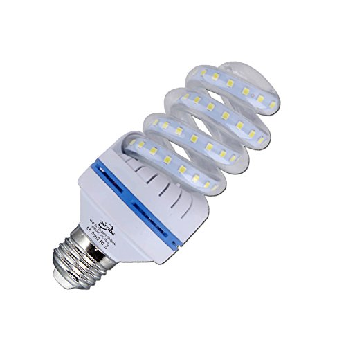 OUYIDE 150 Watt Equivalent A19 Spiral LED Bulbs 16W Daylight 6000K LED Corn Light Bulbs 1760LM E26 E27 Base