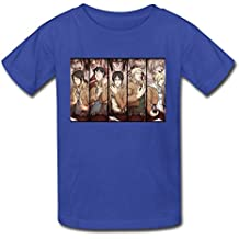 Ambom Youth Attack On Titan Kids Boys And Girls 100% Cotton T-Shirt