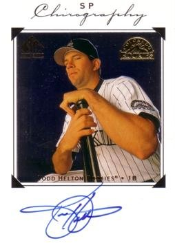 (1998 Upper Deck SP Authentic Chirography Todd Helton Certified Autograph Baseball Card)