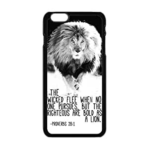 Danny Store Hardshell Cell Phone Cover Case for New iphone 5 5s , Cool Lion Verse