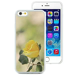 Fashionable Designed Cover Case For iPhone 6 4.7 Inch TPU With Yellow Rose Flower Mobile Wallpaper (2) Phone Case