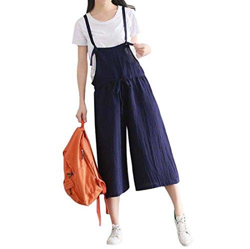 そうでなければ掃くファンブルGFMADE サロペット レディース ワイド オーバーオール 夏 オールインワン レディース ワイドパンツ 9分丈 パンツ ゆったり