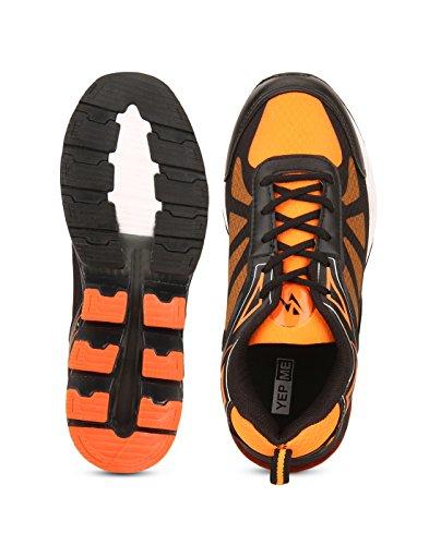Yepme - Zapatillas de atletismo de Material Sintético para hombre multicolor Naranja y negro