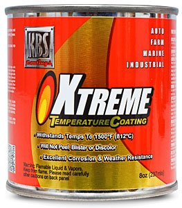 KBS XTC (Xtreme Temperature Coating) - Cast Iron Grey - 8oz - Header Paint - Manifold Paint