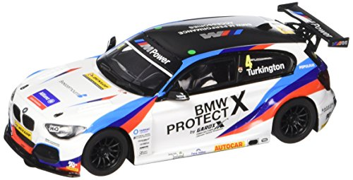 Scalextric C3920 Bmw 1 Ngtc-Btcc Colin Turkington Slot Car 1, White, 1: 32 (Slot Car Runner)