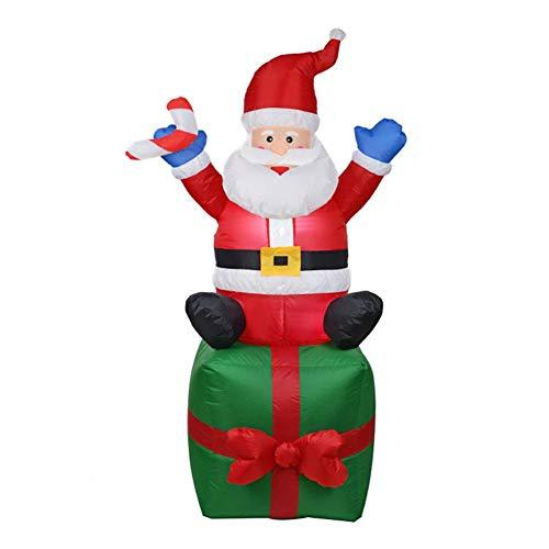 Ahomi - Adorno Hinchable de Papá Noel para decoración de Navidad ...