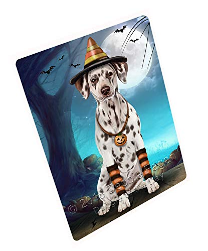 Doggie of the Day Happy Halloween Trick or Treat Dalmatian Dog Candy Corn Magnet MAG61608 (Mini 3.5
