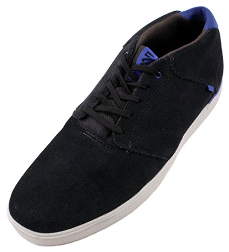 Vans Lxvi Secant Heren Houtskool / Royal Leather / Mesh Mid Top Casual Sneakers