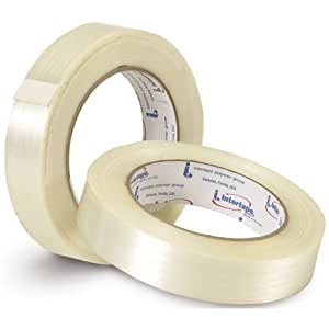 "3/4"" x 60 yds. - (12 Pack) Intertape - RG12 Filament Tape (12 Rolls/Cs)"