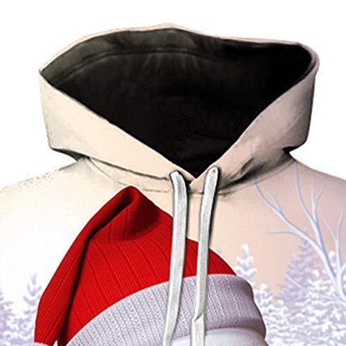 Top 3d Natale Manica Lunga Bhydry Stampa Sweatershirt Autunno Felpe Mens c Bianco Inverno wXEvO