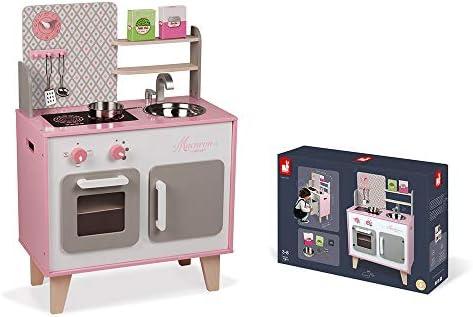 Janod J06567 rosa Spielküche aus Holz,