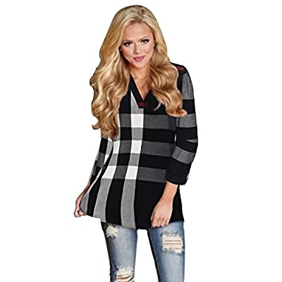 Womens Sexy Summer Plaid Loft Shirt for Ladies Plus Size