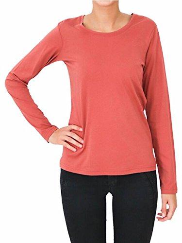 Enetal Natur&Damen - Camiseta - Manga Larga - Cuello redondo - para mujer zedernstaub
