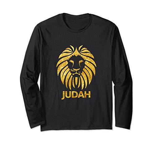 Hebrew Israelite Clothing Judah Lion of Yah Attire Long Sleeve T-Shirt