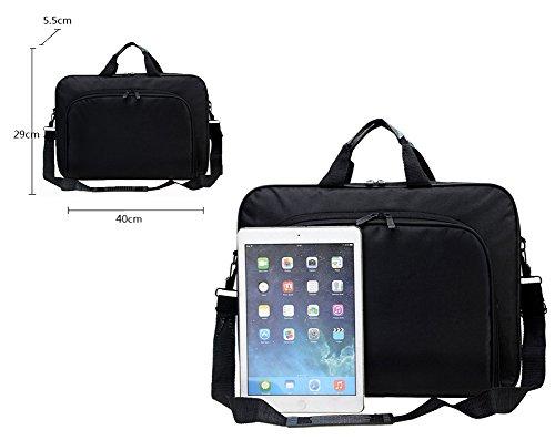 Messenger Bag For 15 Inch Laptop Computer Bag Macbook Shoulder Bag Business Backpack College Bookbag Travel Business Backpack Black Bag by FL Margaret (Image #4)'