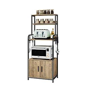 HOMECHO Meuble Cuisine pour Micro Onde et Four, Meuble de Rangement pour Cuisine Salon Chambre Bureau, Placard de…