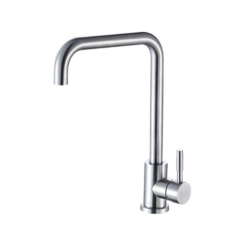 JingJingnet タップキッチンタップ洗面台の蛇口冷たいとお湯のミキサーバスルームのミキサー洗面器のミキサータップホットまたはコールドキッチンまたはバスルームのタップ (Color : B) B07S7B5729 B