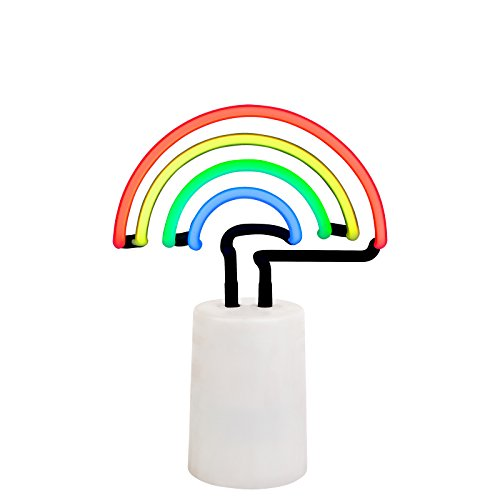 SunnyLIFE Indoor Decorative Neon Light Figurine Tube Desk Lamp with Adjustable Dimmer - Rainbow Multi by SunnyLIFE