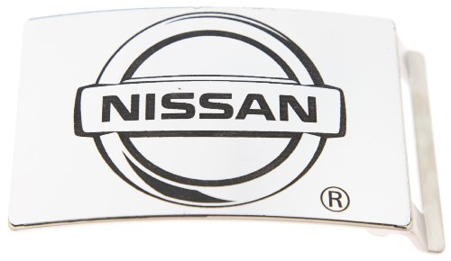 Metal Licensed Belt Buckle (Nissan Logo Silver Color Brushed Metal Official Licensed Belt)