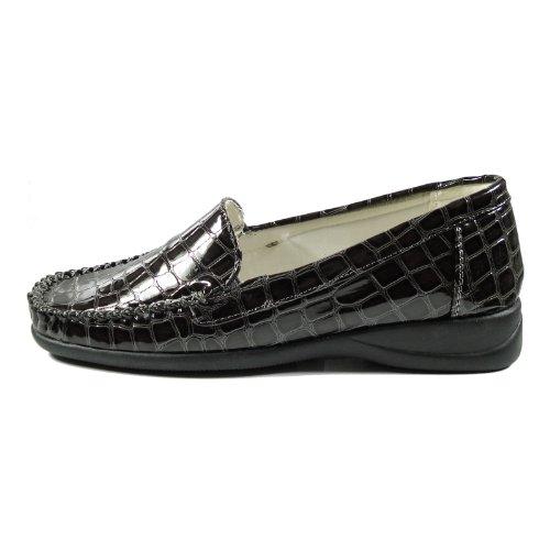 Donna 10288-531 Damen Schuhe Premium Qualität Mokassin Grau (Grau )